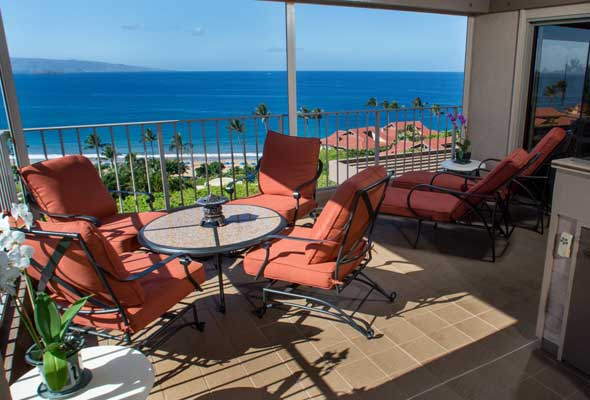 Enjoy the ocean breeze on the lanai